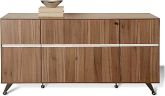 Unique Furniture 300 Collection Storage Credenza - Walnut - 350-WAL