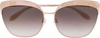 Blumarine Óculos de sol borboleta com detalhe em renda - Dourado