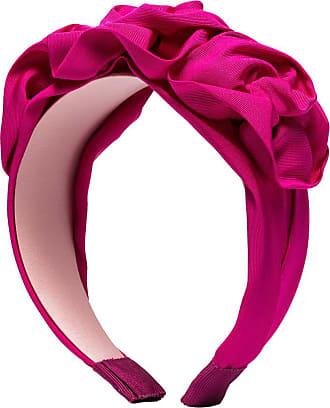 Jennifer Behr Headband Rosette de seda - Rosa