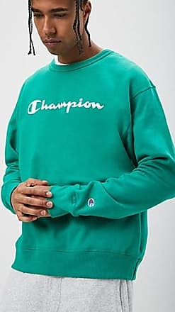21 Men Champion Powerblend Fleece Crew at Forever 21 Green