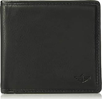 Dockers Mens Leather Bifold Wallet - RFID Blocking Classic Single Fold with Extra Card Slots and ID Window, One sizee