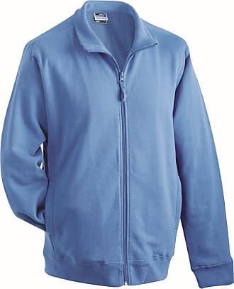 James & Nicholson JN058 Mens Full Zip Sweat Jacket Blue Size L