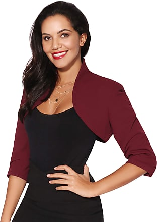 Krisp Tailored Cropped Evening Shrug (Wine (6706), UK 16), 6706-WIN-16