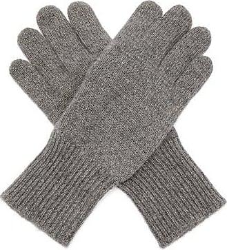 Brunello Cucinelli Suede-panelled Cashmere Gloves - Mens - Grey