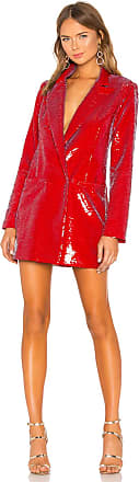 h:ours Trixy Blazer Dress in Red
