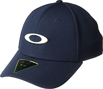 Oakley Mens TINCAN Cap Hat, Fathom/Light Grey, L/XL