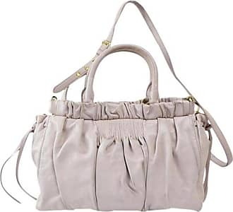 Miu Miu Miu Miu Ruffled 2way 2180112 Light Pink lavendar Leather Tote e1d042dd4129b