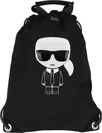 Karl Lagerfeld Ikonik Nylon Flat Backpack Black Rucksack schwarz