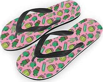 Coloranimal Mens V Thong Flip Flops Cool Crazy Horse Head Printed Summer Beach Sandals