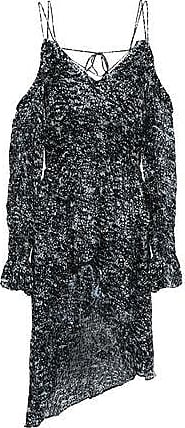 Iro Iro Woman Eloma Cold-shoulder Printed Dévore-chiffon Dress Anthracite Size 36