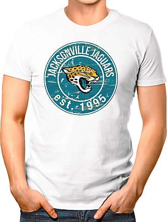 OM3 Jacksonville-Badge - T-Shirt | Mens | American Football Shirt | XL, White