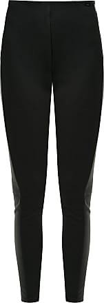 Armani Calça legging com couro - Preto