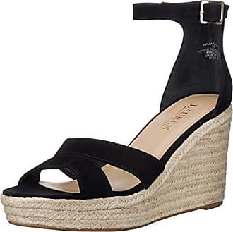 8246e23db Ralph Lauren Lauren Ralph Lauren Womens HALDA Espadrille Wedge Sandal,  Black, 8 B US