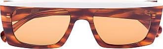 Kaleos Óculos de sol retangular Havana - Marrom