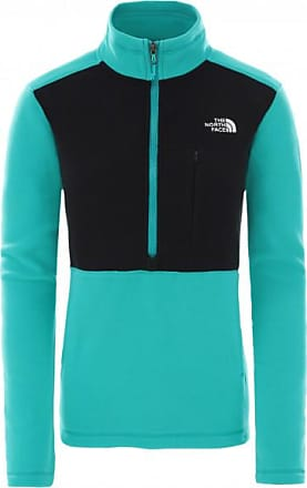 The North Face Womens Blocked Tka 1/4 Zip Fleece Pullover in pile Donna | turchese/nero