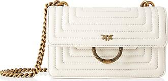 Pinko Womens New Mini Love Quilting Messenger Bag, Beige, 6x12.8x20.8 Centimeters (W x H x L)