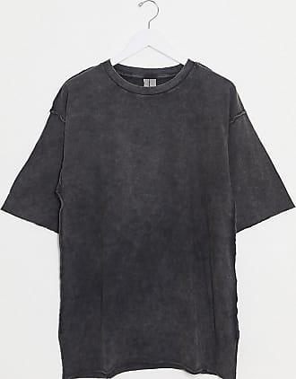 Asos Tall ASOS DESIGN Tall - Übergroßes T-Shirt in verwaschenem Anthrazit-Grau