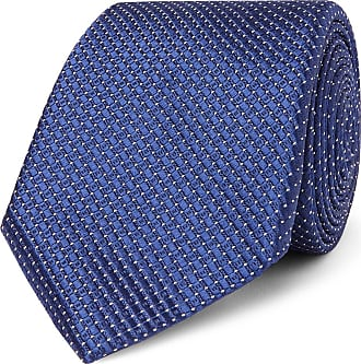 Canali 8cm Metallic Silk-jacquard Tie - Navy