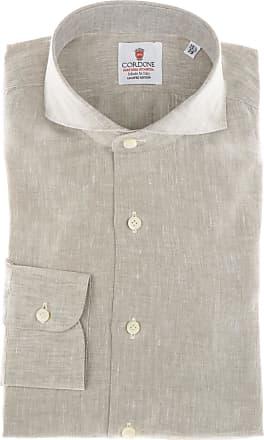 Cordone 1956 Camicia sartoriale Mod. Beige Linen Shirts - Tessuto lino - Colore beige - Taglia 36