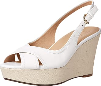 Naturalizer womens Zander Wedge Sandals White Size: 8.5 UK