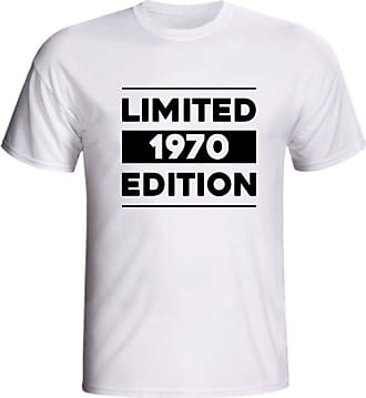 Generico Camiseta Limited 1970 Edition 50 Anos Aniversário Cinquenta