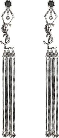 Saint Laurent Monogram tassel earrings