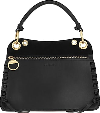 See By Chloé Satchel Bags - Whipstitch Panelled Tote Bag Leather Black - black - Satchel Bags for ladies