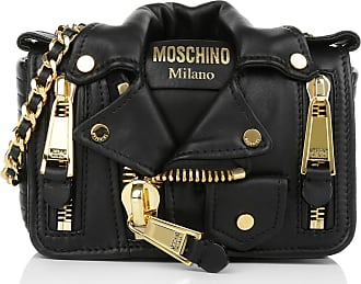 Moschino Cross Body Bags - Small Crossbody Biker Jacket Black Gold - black - Cross Body Bags for ladies