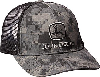 John Deere Mens Digital Camo and Mesh Cap Embroidered, Black One Size