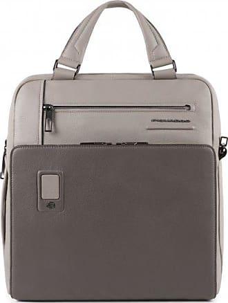Piquadro Akron Borsa per PC portatile pelle 33 cm scomparto Laptop grey