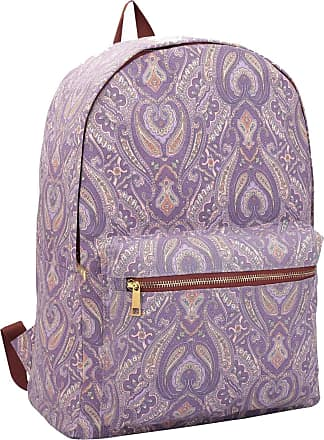 Quenchy London Ladies Backpack, Girls Casual Daypack Bag for School, Work or Hand Luggage Travel 20 Litre Size 39cm x32 x16 QL7163Pu (Purple Paisley)