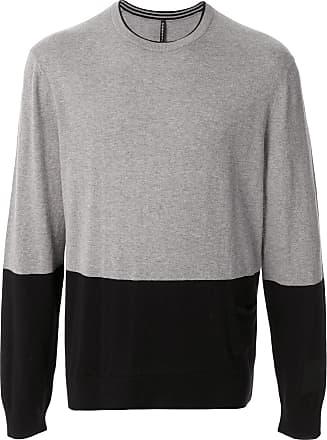 Blackbarrett Suéter color block de algodão - Cinza