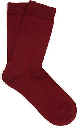 Falke Soft Wool And Cotton-blend Socks - Womens - Burgundy