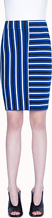 Akris Merino Knit pencil skirt in Square Stripe Jacquard