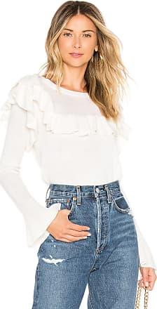 Tularosa Alexandria Ruffle Sweater in White