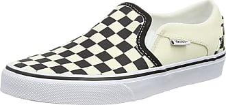Vans Womens Asher Slip On Trainers, Multicolour ((Checkerboard) Black/White Apk), 5.5 (38.5 EU)