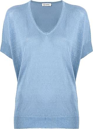 PESERICO Blusa de tricô com decote V - Azul