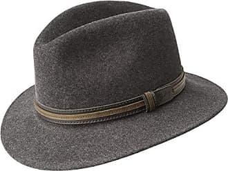 Adults Unisex Classic Tweed Pork Pie Hat in Grey//Blue Small//Medium