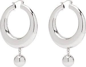 J.W.Anderson Hoop And Ball Earrings - Womens - Silver