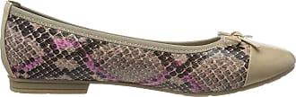 Jana Womens 8-8-22109-24 Closed Toe Ballet Flats, Pink Rose Snake 526, 5 UK