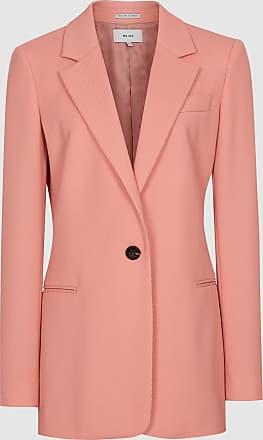 Reiss Phoenix - Single Breasted Blazer in Apricot, Womens, Size 14