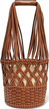 Hereu Anna Woven Leather Bucket Bag - Tan