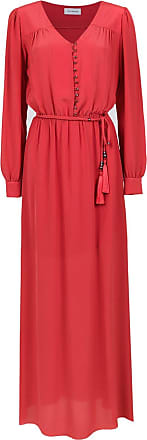 OLYMPIAH Vestido longo Bardini de seda - Vermelho