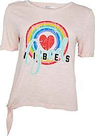 Only Good Vibes tie waist tee