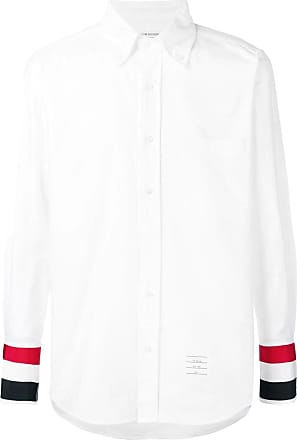 Thom Browne White Grosgrain Cuff Oxford Shirt - The Webster