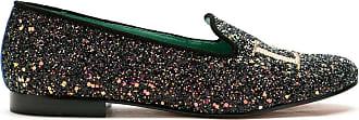 Blue Bird Shoes Loafer Love em glitter - Preto