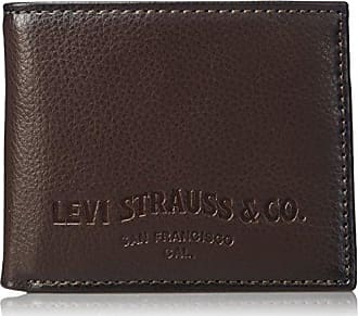 12ba9b595 Levi's Mens Slim Bifold Wallet - Genuine Leather Casual Thin Slimfold with  Extra Capacity and ID