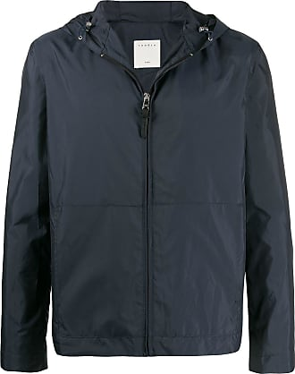 Sandro zipped hooded jacket - Blue