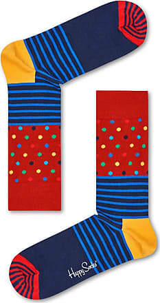 Happy Socks Mens Stripes & Dots Sock, Multicolour, 7-10 (Size: 41-46)