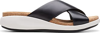 Clarks Womens Sandal Black Leather Clarks Un Bali Go Size 7.5